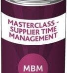 MBM can with the label 'Masterclass - Supplier Time Management'