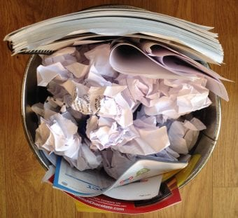 How to make the most from the training slides in your drawer - waste paper bin with slides thrown away
