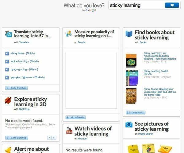 Google screenshot of 'what do you love?'