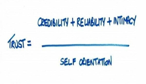 Trust = credibility + reliability + intimacy /self orientation - How to Influence People