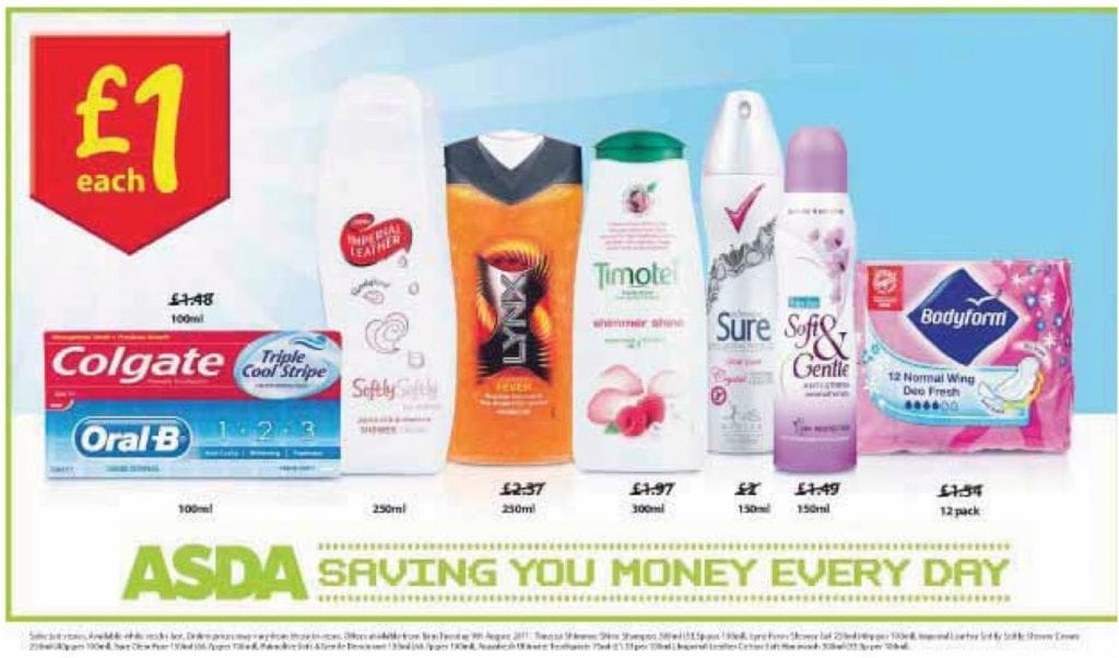 ASDA pricing promotions