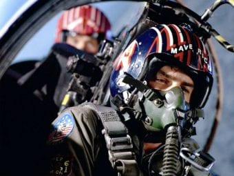 maverick pilot with co pilot behind him