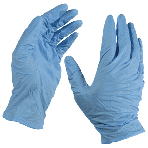 Blue rubber gloves - MBM Training Provider