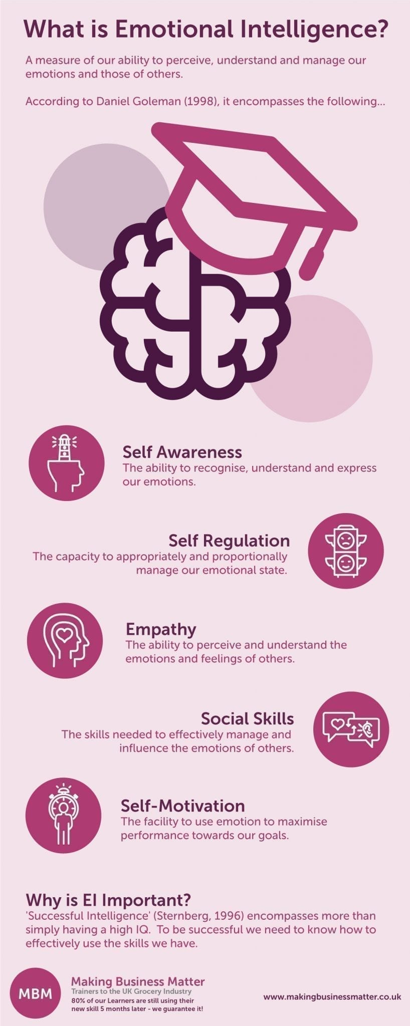 Emotional Intelligence as a factor in Leadership Development Infographic