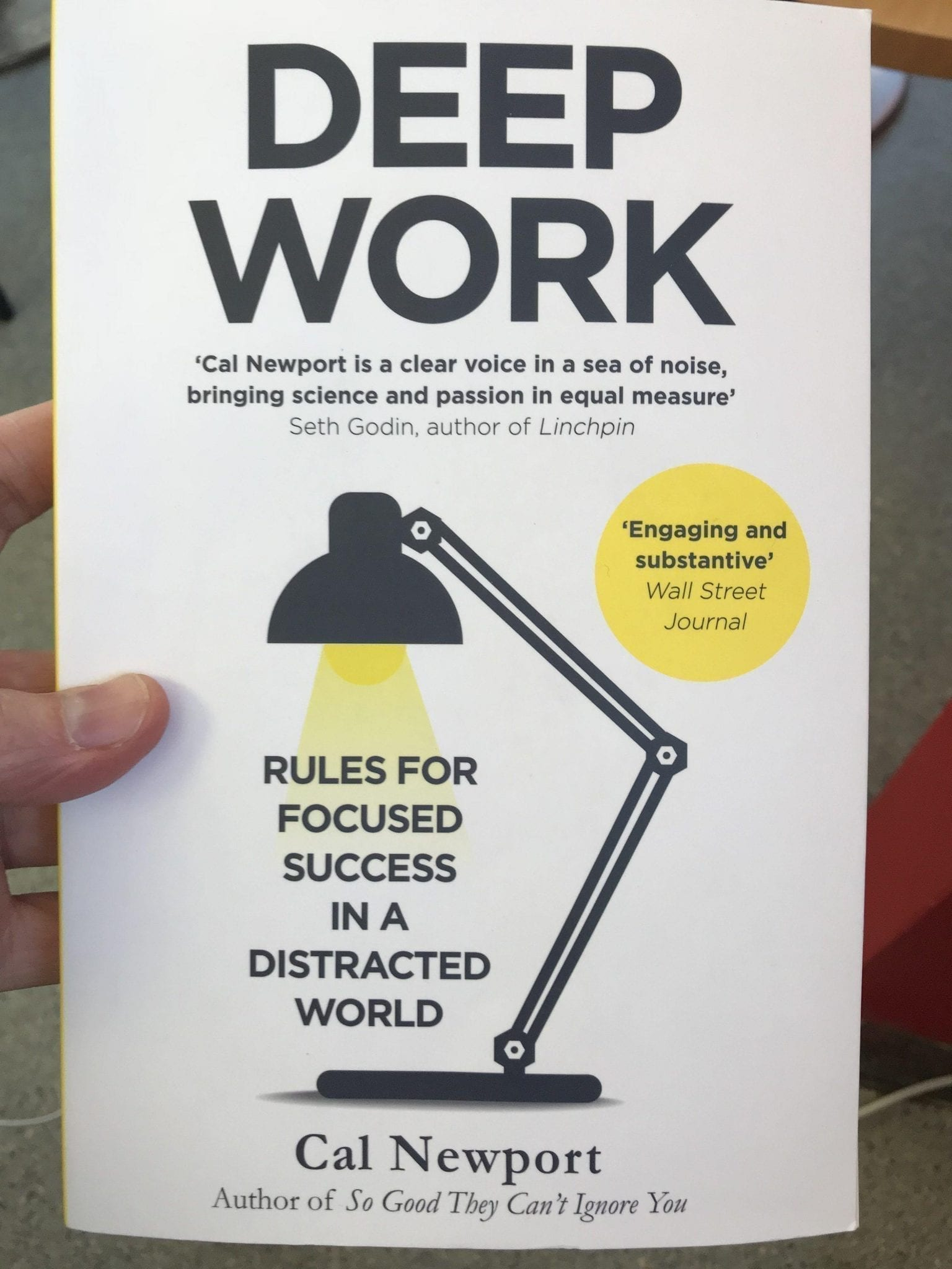 Book cover of 'Deep Work' by Cal Newport