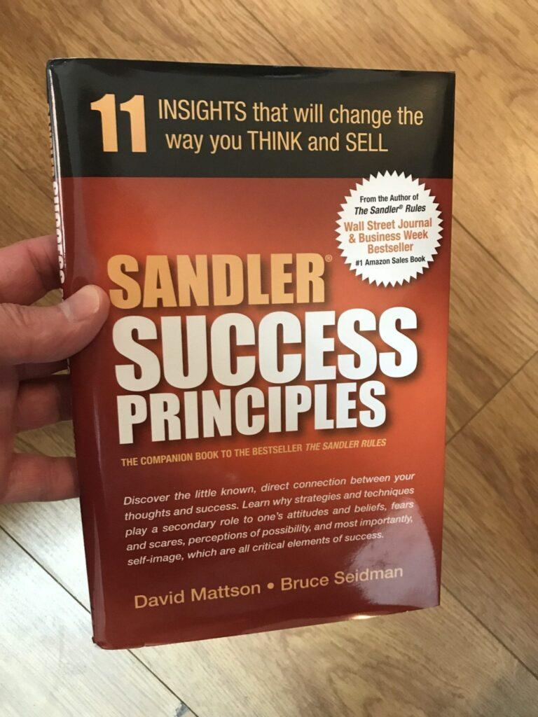 Sandler Success Principles by David Mattson book cover