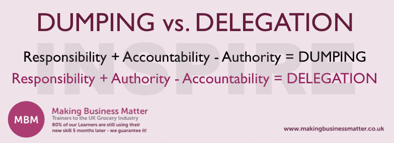 Dumping vs. Delegation, Learning and Development Managers: Helpful Lessons
