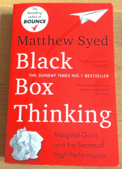 Book cover of Black Box Thinking by Matthew Syed